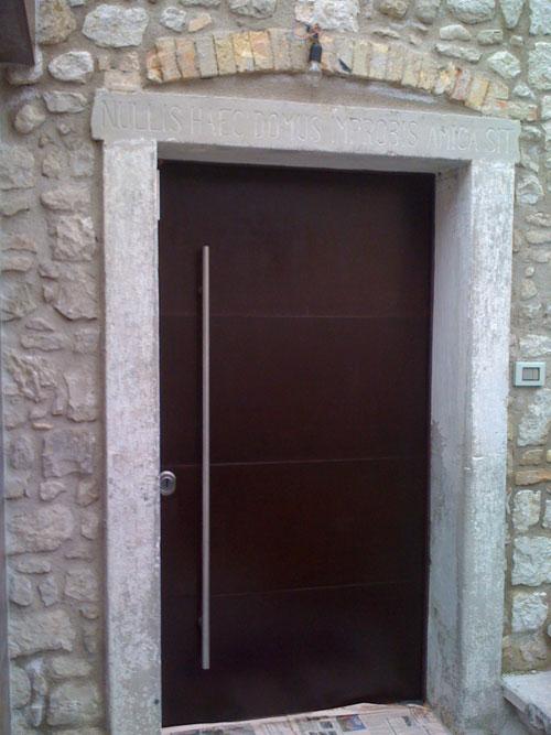 Door Corten Steel Processing And Metal Finishes Da Pra